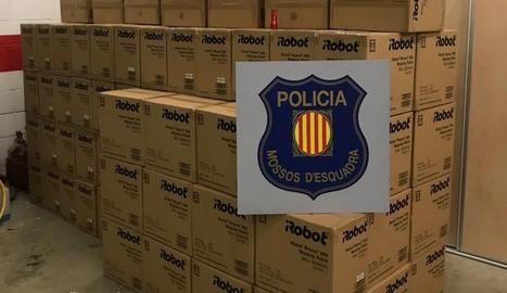 Un detingut per robar 40.000 euros en robots de neteja d'un camió a Sidamon