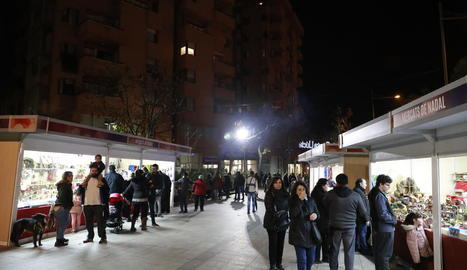 El mercat de productes nadalencs es va celebrar l'any passat a la plaça Cervantes.