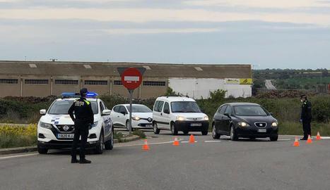 Imatge d'arxiu d'un control de la Policia Local de Tàrrega.