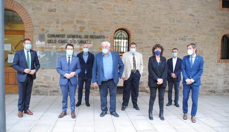 L'acte de presentació del projecte de modernització del reg del Canal d'Urgell aquest dijous a Mollerussa.