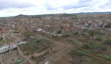 Vista de la zona de l'Albi afectada per la riuada a través d'un dron.