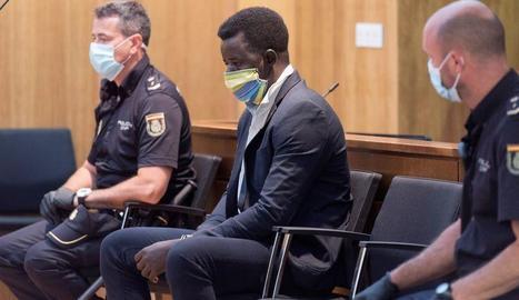 El condemnat, durant el judici a l'Audiència d'Osca.