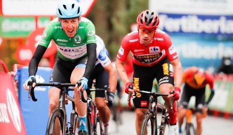 Dan Martin va ser el més fort a les últimes rampes de l'etapa.