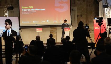 La presentació del projecte de la nova Àrea 5G de Ponent, ahir a la Seu Vella de Lleida.