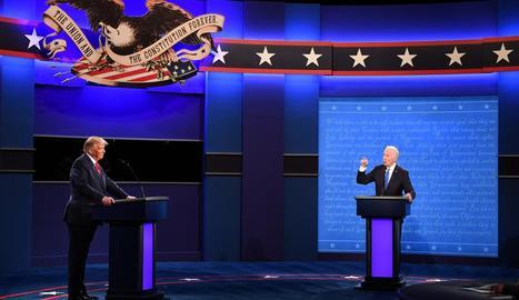 Donald Trump i Joe Biden, en el segon debat presidencial.