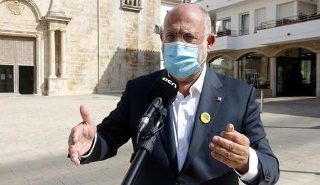El portaveu del grup parlamentari de JxCat, Eduard Pujol.