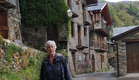 Rosa Guàrdia, guanyadora del premi del jurat, a Farrera.