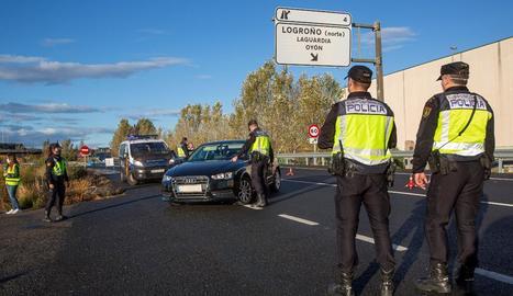 Controls a la Rioja, on està vigent des de la setmana passada el confinament perimetral.