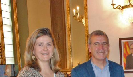 Francés Boya i Maria Vergés, que serà la nova síndica.