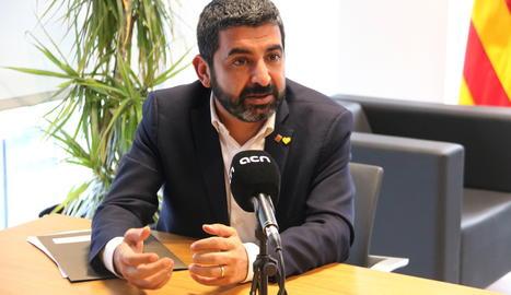 El conseller de Treball, Afers Socials i Famílies, Chakir el Homrani.