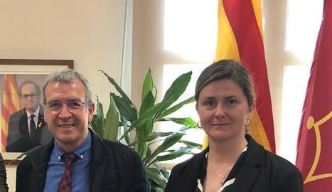 Francés Boya i Maria Vergés, que el substituirà demà com a nova síndica d'Aran.