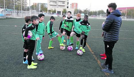 La Unió Esportiva Balàfia, com la resta de clubs lleidatans, ha hagut d'ajustar els horaris d'entrenament.