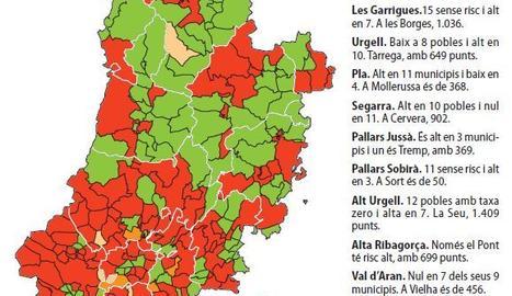 Els municipis amb risc alt de rebrot passen de 59 a 106 en 10 dies