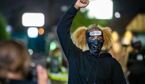 Imatge d'arxiu d'una protesta antiracial als Estats Units.