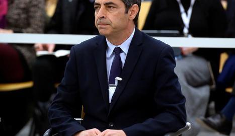 El major dels Mossos, Josep Lluís Trapero, durant el judici.