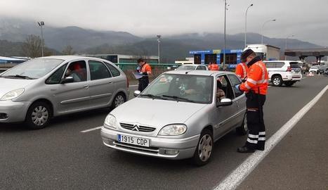 Controls de mobilitat de l'Ertzaintza al País Basc.