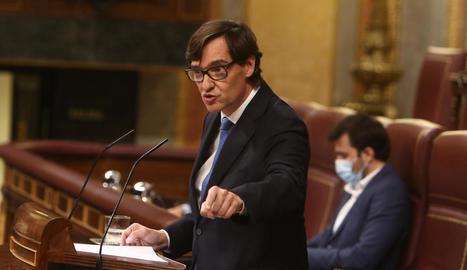 Sánchez va deixar en mans de Salvador Illa la defensa del decret.