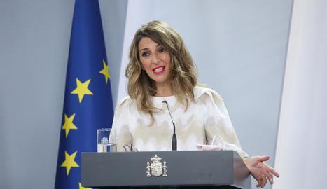 La ministra Yolanda Díaz.