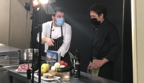 Un dels actes gastronòmics que es van emetre en línia.