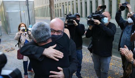 L'empresari Oriol Soler, divendres, al quedar en llibertat després de passar a disposició judicial.