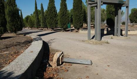 Apareixen destrosses per valor de 4.000 euros al Parc de Sant Eloi de Tàrrega