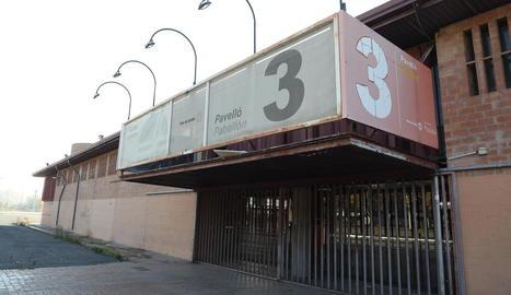 El pavelló 3, situat al complex de la Fira a Cappont, ahir.