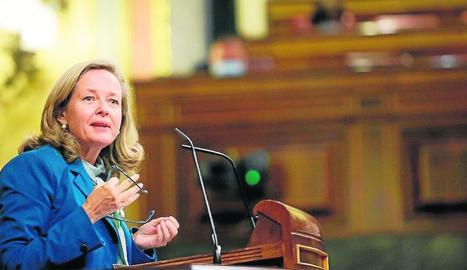 La vicepresidenta tercera del Govern espanyol, Nadia Calviño.