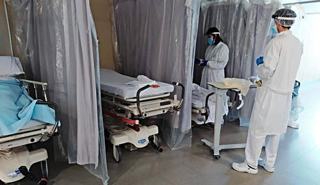 La sala d'urgències de l'hospital de Figueres ahir.