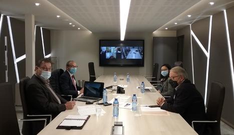 La reunió del Consell d'Administració de Mercolleida, celebrada aquest dimarts.