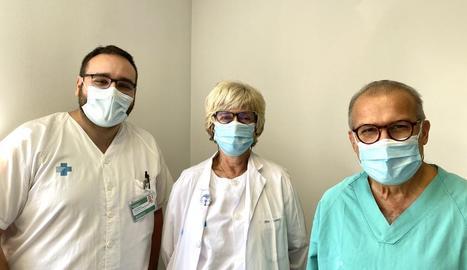 Els doctors J. Manel Fernández, Rosa Martí i J. Manel Casanova.