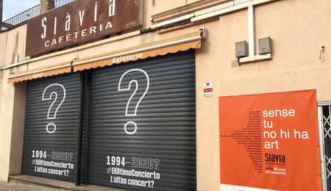 La cafeteria Slàvia de les Borges Blanques també s'ha adherit a la campanya.