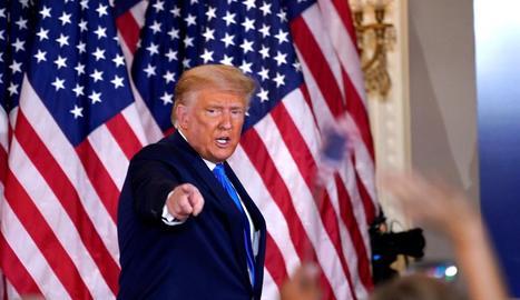 El president dels EUA, Donald Trump, va insistir ahir des de la Casa Blanca a agitar el fantasma del frau.