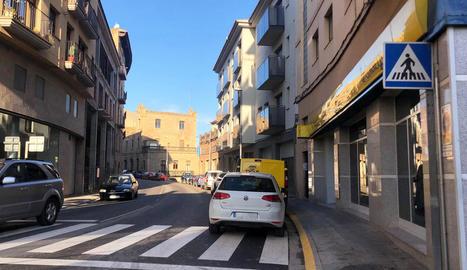 El tram de la carretera de Bassella que es preveu reorganitzar.