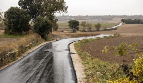 El trajecte del camí que s'ha renovat.
