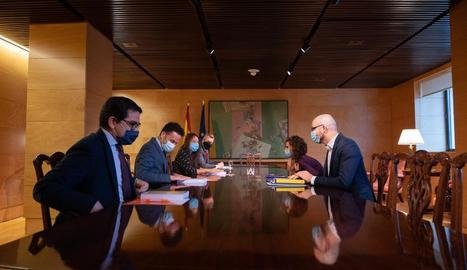 La ministra d'Hisenda, María Jesús Montero, a la reunió amb la representació de Ciutadans.