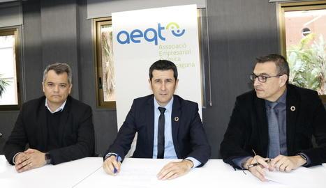 Imatge del president de l'AEQT, Rubén Folgado, al centre.