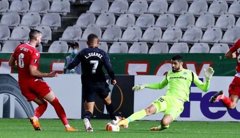 Luis Suárez va marcar el segon gol del Granada en el partit contra l'Omónia de Nicòsia.