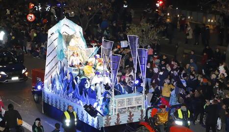 Una carrossa de la cavalcada a Lleida del mes de gener passat.