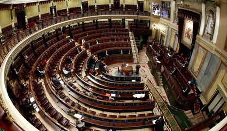 Vista del ple del Congrés dels Diputats.