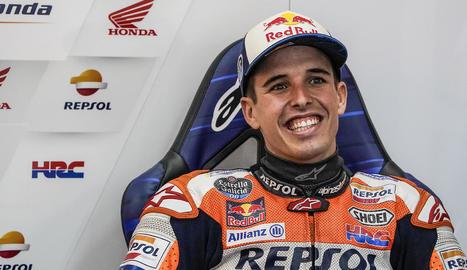 Àlex Márquez, somrient ahir al circuit de Xest.