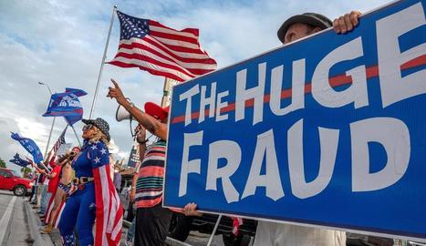 "Partidaris de Trump demanen a Miami ""Aturar el robatori de Biden""."