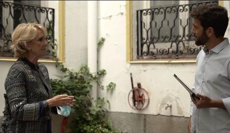 El periodista manté una tensa entrevista amb l'expresidenta de Madrid Esperanza Aguirre.