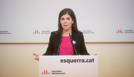 Marta Vilalta en una de les compareixences.