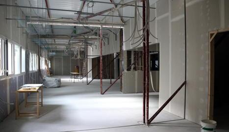 Comença el muntatge dels mòduls del nou edifici de l'hospital Arnau de Vilanova de Lleida