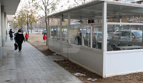 Un bar tancat a Lleida.