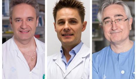 Els doctors premiats de l'Arnau de Vilanova Daniel Lacasta, Mindaugas Gudelis i Javier Trujillano.