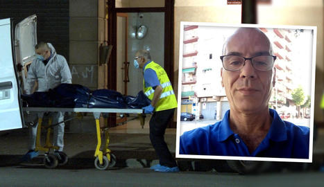 L'aixecament del cadàver. A la dreta, Pierre Rubio.