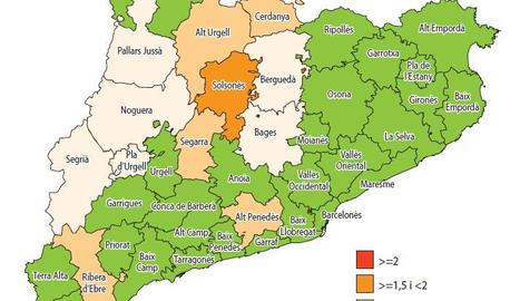 La Segarra, la comarca amb més risc de rebrot