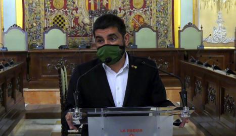 El conseller de Treball, Chakir El Homrani, ahir a Lleida.