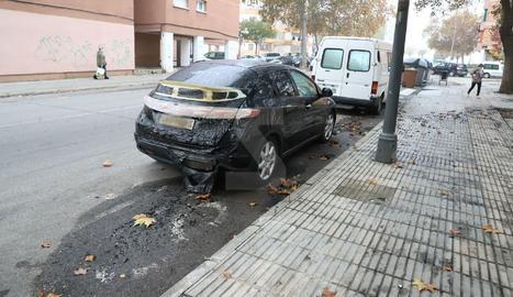 Imatge del cotxe afectat.
